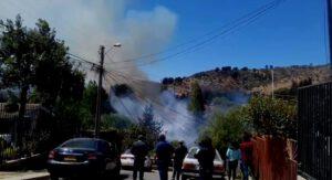 Incendio afecta a las inmediaciones del cementerio Parque Los Pensamientos en Santa Julia